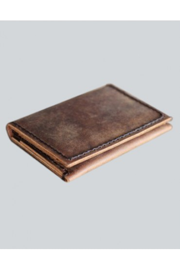 Distressed Wallet Leather