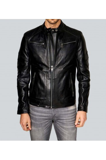 The Hiest Classic Racer Black Leather Jacket