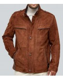 The Noir Classic Brown Suede Leather Jacket