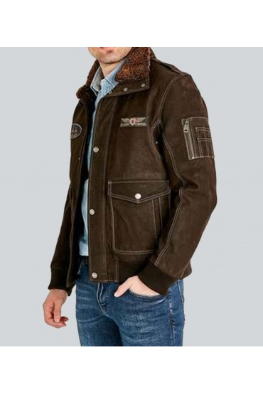 Breezer Brown Vintage Classic Leather Jacket