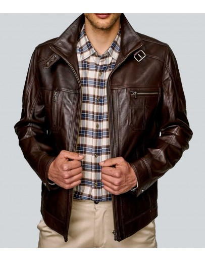 Matthew's Own Waxed Brown Leather Jacket