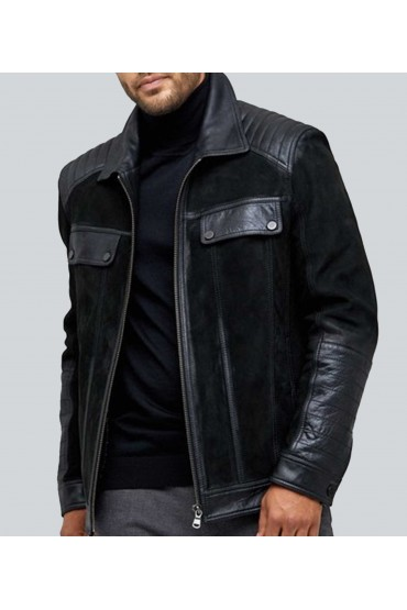 Chalet Suede Black Nappa Leather Jacket