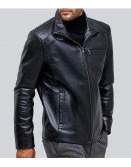 Contracte Black Sheepskin Leather Jacket